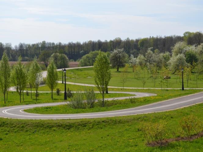 Велотрек в Лошицком парке