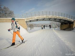 Лыжная трасса в Веснянке